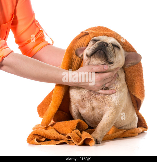 Drying hands with towel stock photos