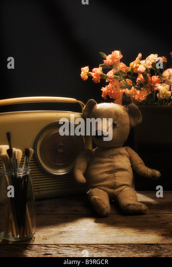 Nostalgic Teddy Bear, Still Life. - Stock-Bilder