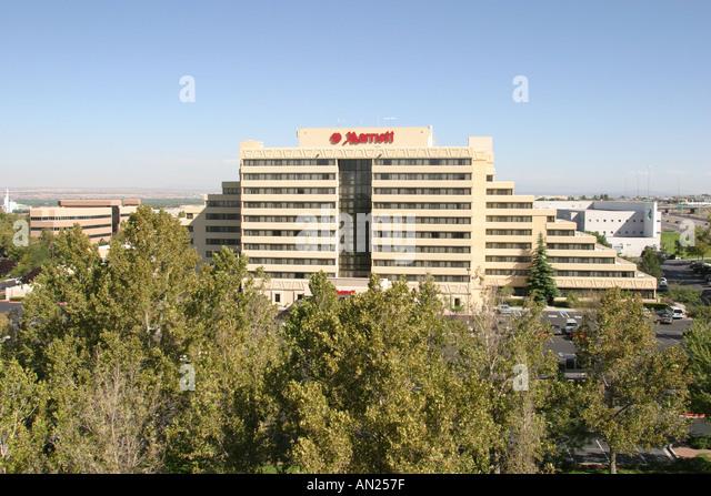 New Mexico Albuquerque Marriott Pyramid North hotel W - Stock Image