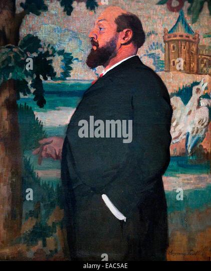 Portrait of Paul Mariéton  Chancellor félibrige Paul HERMANN 1874-1940 France French - Stock Image