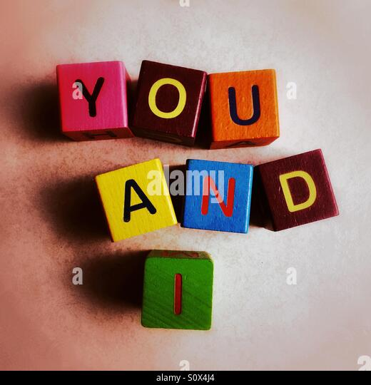 You and I - Stock Image