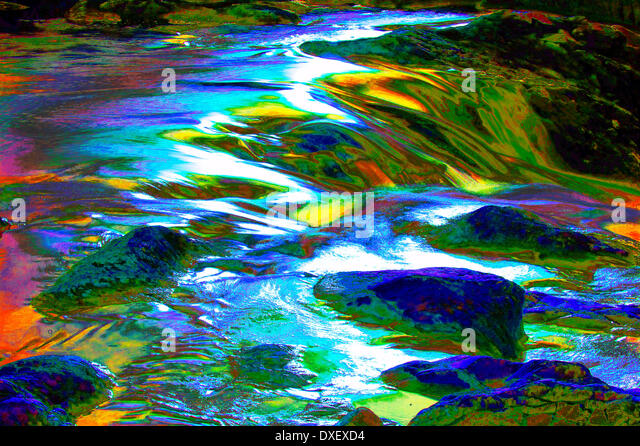 Abstract river - Stock Image