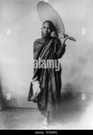 A Burmese Monk, circa 1890 - Stock-Bilder