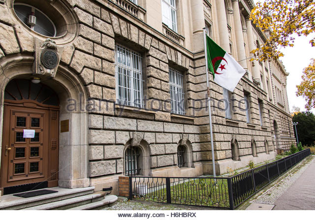 Berlin Pankow, Germany, Embassy of Algeria Only for Editorial use - Stock Image