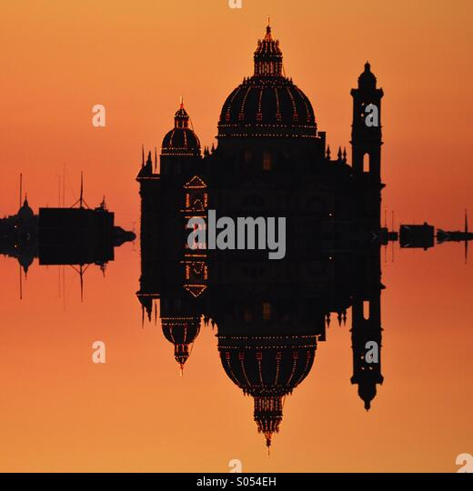 Mirrored church in Gozo - Stock Image