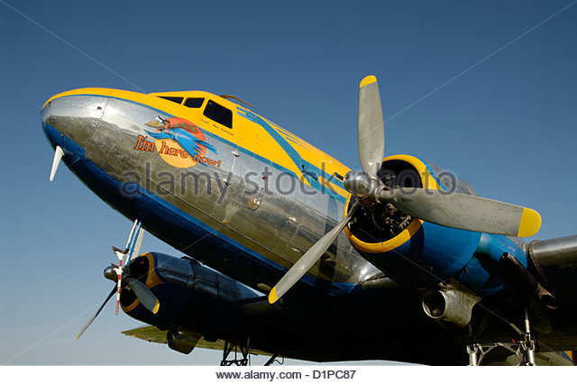 Douglas DC-3 - Stock Image
