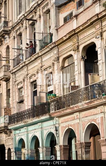 Paseo de Marti (Prado), Havana, Cuba, West Indies, Central America - Stock Image