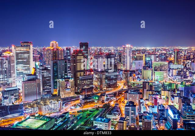 Osaka, Japan at the landmark Umeda District. - Stock Image