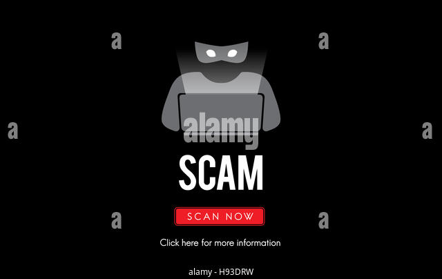 Scam Virus Spyware Malware Antivirus Concept - Stock Image