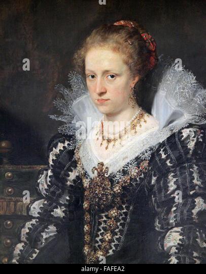 Jacqueline van Caestre wife of Jean Charles de Cordes by Peter Paul Rubens - Stock Image