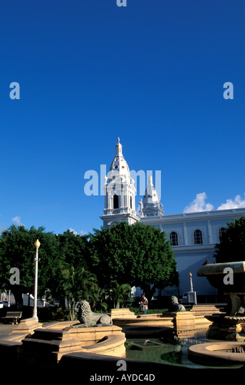 Puerto Rico Ponce city, Cathedral of Our Lady of Guadeloupe, church, tourist attraction - Stock Image