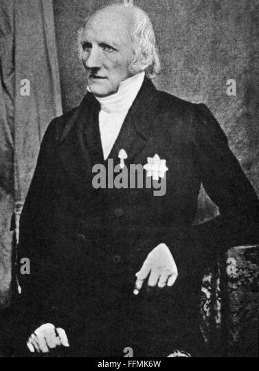 Jacob Peter Mynster, circa 1850 - Stock-Bilder