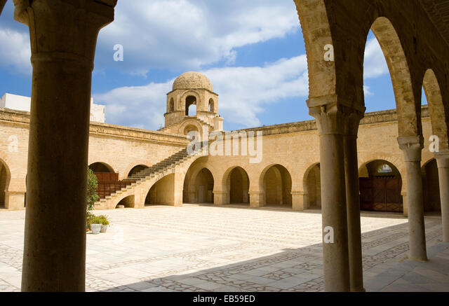 Tunisia, Sousse, the Grand Mosque of the IX century - Stock Image