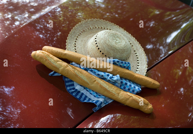 France, Beaune, Burgundy, Baguettes, French bread. - Stock Image