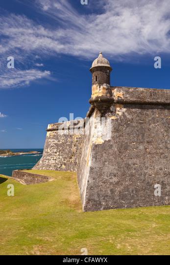 OLD SAN JUAN, PUERTO RICO - Castillo San Felipe del Morro, historic fortress. - Stock Image