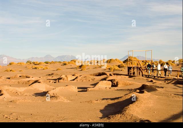 Chile Aldea de Tulor village ruins Atacama Desert, archeology, - Stock Image