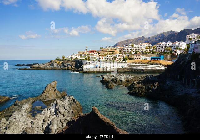 Puerto de Santiago, Tenerife, Canary Islands, Spain, Atlantic, Europe - Stock-Bilder