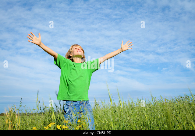 happy summer kid - Stock Image