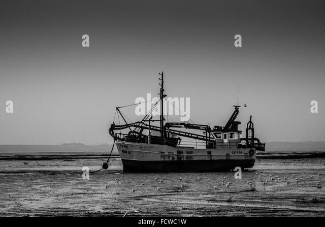 Fishing Smack on the Beach, Leigh on Sea - Stock Image