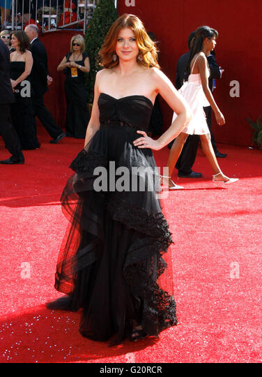 Debra Messing at the 60th Primetime EMMY Awards held at the Nokia Theater in Los Angeles, California, United States - Stock-Bilder
