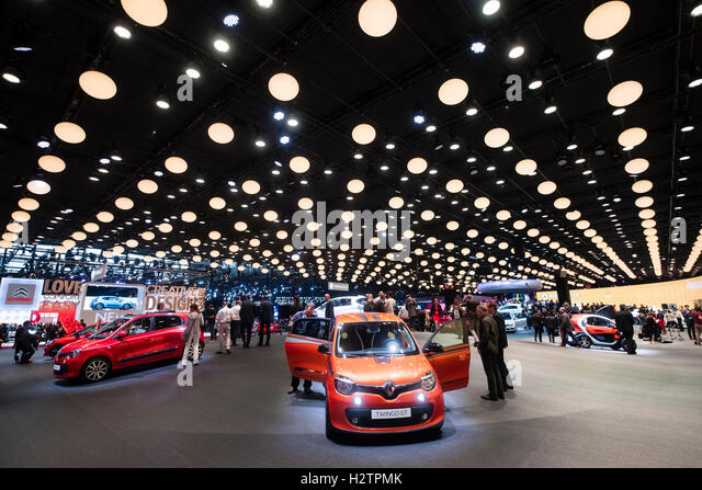 View of Renault stand at Paris Motor Show 2016 - Stock-Bilder