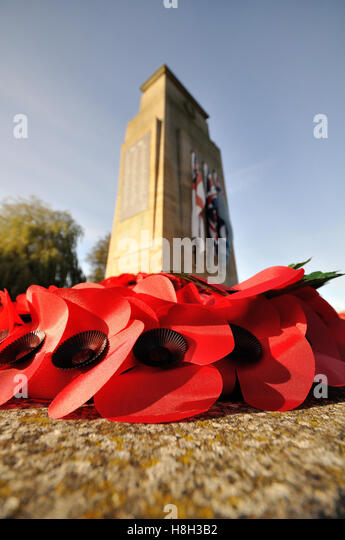 Bourne, United Kingdom. 13th Nov, 2016. Remembrance Sunday views in Bourne, Lincolnshire. Credit:  Jonathan Clarke/Alamy - Stock Image