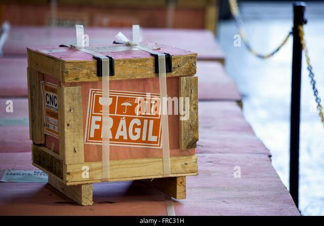 Fragile cargo terminal in Santo Cristo - Port of Rio de Janeiro - Stock Image