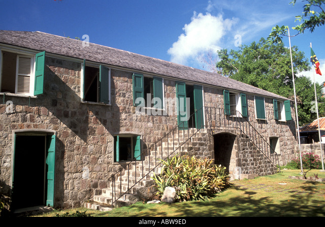 Nevis Alexander Hamilton House - Stock Image