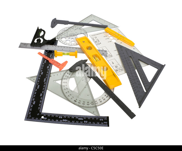 A variety of engineering tool of measuring Micrometer for measuring the thickness of items - path included - Stock Image