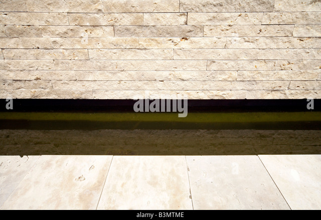 Stonewall and moat - Stock Image