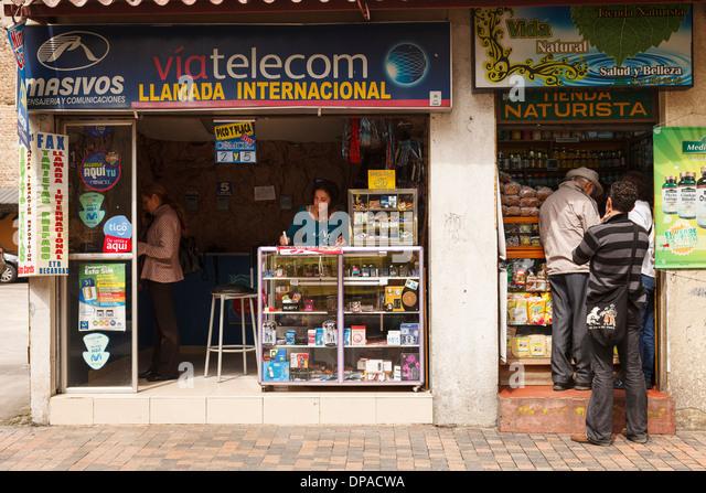 Shop, Bogota, Colombia, America - Stock Image