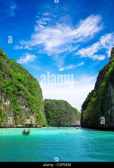 rocks and sea in Krabi Thsiland - Stock Image