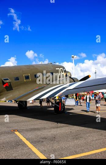Tico Belle, the Douglas C-47 Skytrain from WW2 - Stock Image