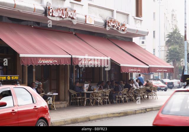 Africa, North Africa, Morocco, Casablanca, Restaurant - Stock Image
