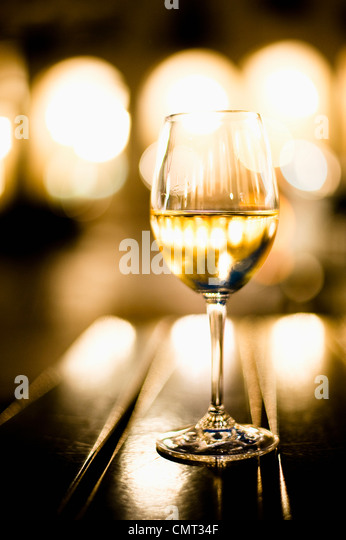 Close-up of wine glass - Stock Image