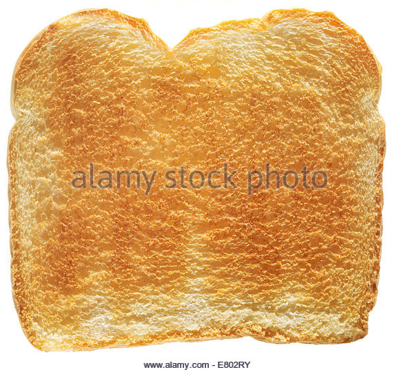 traditional white toast slice bread on white background - Stock Image