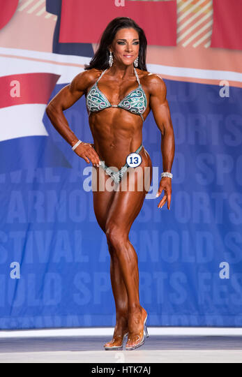 March 3rd 2017, Columbus, OH, USA; Fiona Harris (13) competes in Fitness International as part of the Arnold Sports - Stock-Bilder