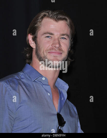 Chris Hemsworth    Comic-Con 2011 - Celebrities at the Convention Centre       San Diego, California - 23.07.11 - Stock Image