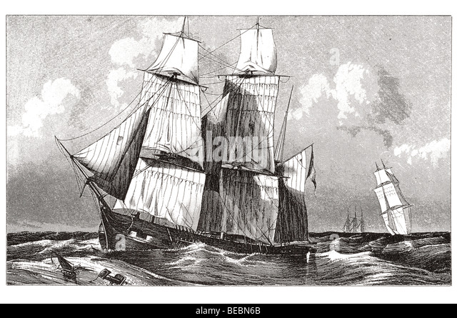 barque rolling - Stock Image