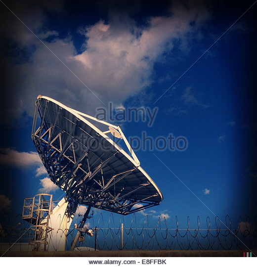 USA, California, Los Angeles, Satellite dish - Stock-Bilder