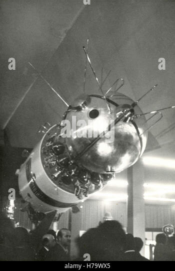 Russian satellite of the first generation, USSR - Stock Image