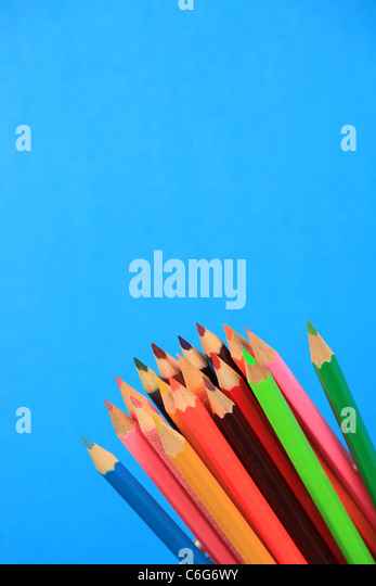 Multi-coloured pencils - Stock Image