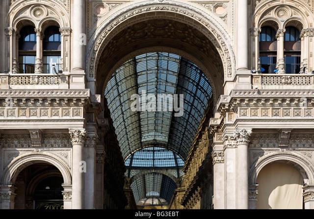 Vittorio Emanuele's Gallery, Milan, Lombardy, Italy, Europe - Stock Image