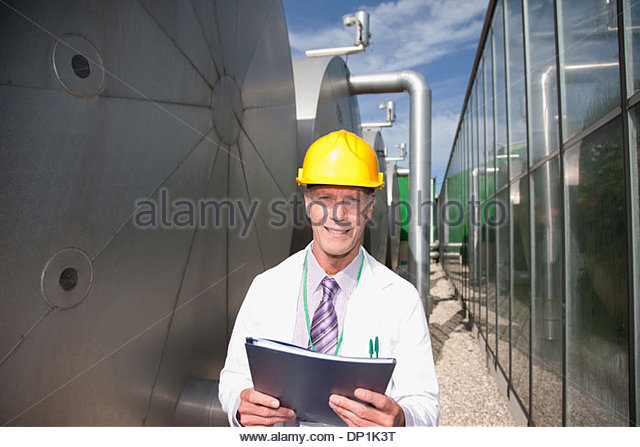Scientist outdoors - Stock Image
