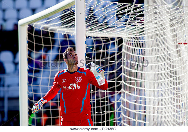 SPAIN, Madrid: Sevilla FC´s Portuguese goalkeeper player Alberto Bastos 'Beto' during the Spanish League - Stock Image