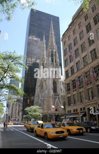 USA, New York, Architektur, Saint Patrick's Church - Stock-Bilder