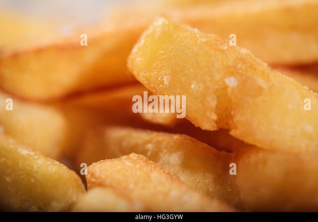 Close up of tasty French fries - Stock Image