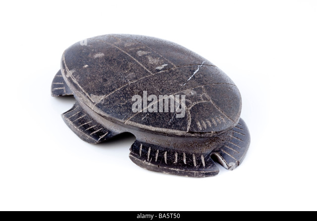Scarab souvenir from Egypt - Stock Image