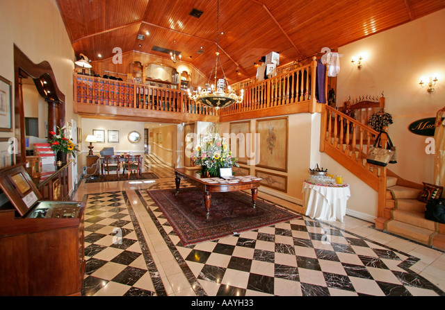 south africa Stellenbosch Lanzerac wine estate luxery hotel lobby - Stock Image