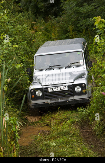 Land Rover Off Road Driving - Stock Image